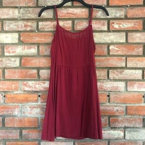 H&M Burgundy Dress